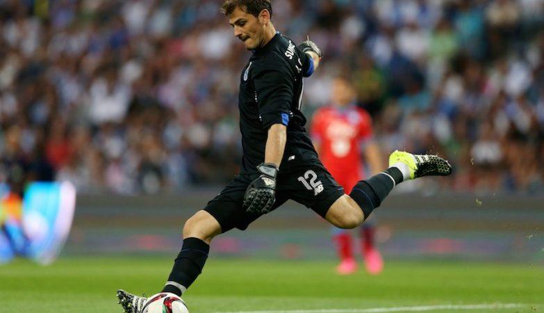 Iker Casillas no Estádo do Dragão, no jogo de apresentação do FC Porto frente ao Nápoles
