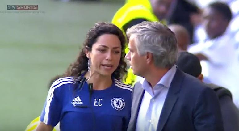 Eva Carneiro ouve das boas de Mourinho