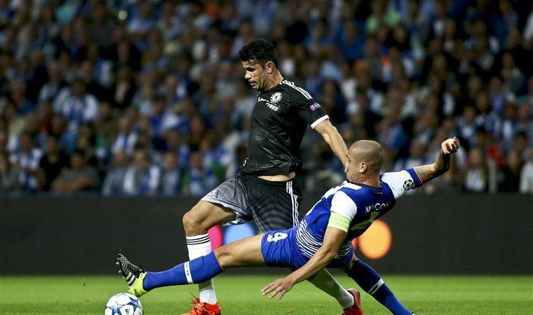 Diego Costa e Maicon, FC Porto vs Chelsea