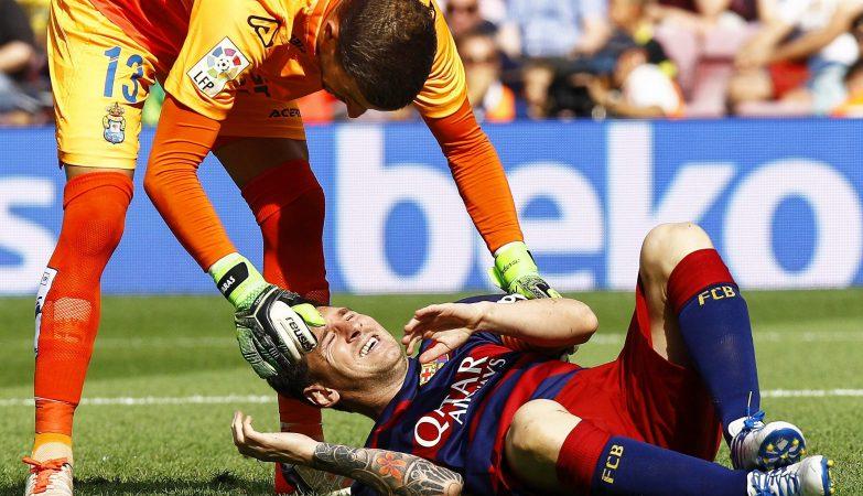 Lionel Messi sofreu uma lesão no jogo do FC Barcelona contra o UD Las Palmas