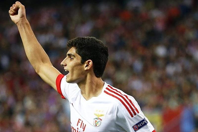 Gonçalo Guedes marcou o golo da vitória do Benfica em Madrid