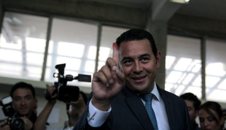 O político, actor e comediante guatemalteco Jimmy Morales