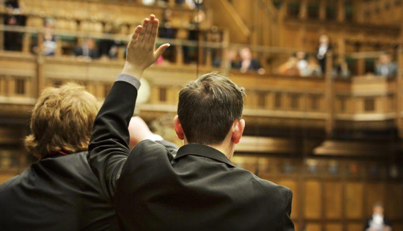 Votação na Câmara dos Comuns, o Parlamentobritânico