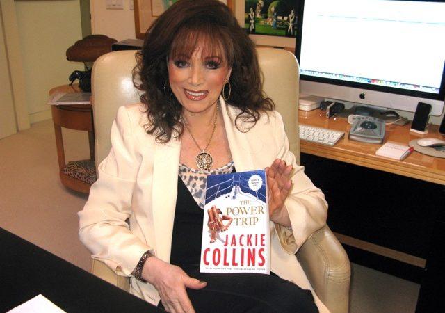 A escritora Jackie Collins