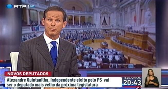 """José Rodrigues dos Santos diz que Quintanilha foi """"eleito ou eleita"""""""