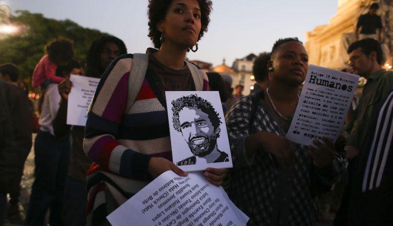 Vigília por Luaty Beirão em Lisboa