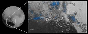 Água gelada em Plutão