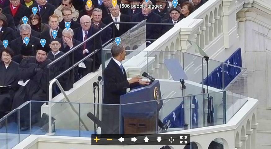 A foto panorâmica interactiva de tomada de posse do presidente Barack Obama desenvolvida pela Digisfera para o Washington Post.