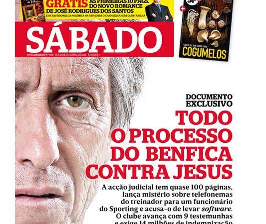 Capa da Revista Sábado de 15 de Outubro de 2015.