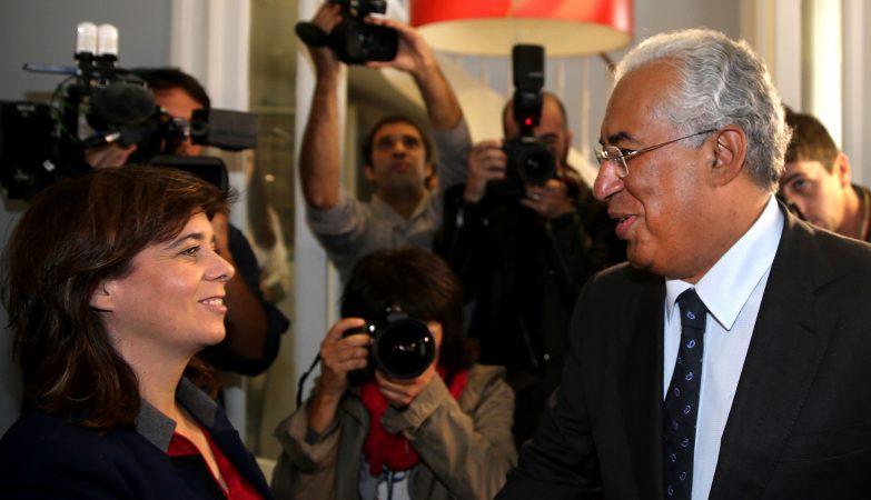 O líder socialista António Costa reúne-se com Catarina Martins, porta-voz do Bloco de Esquerda
