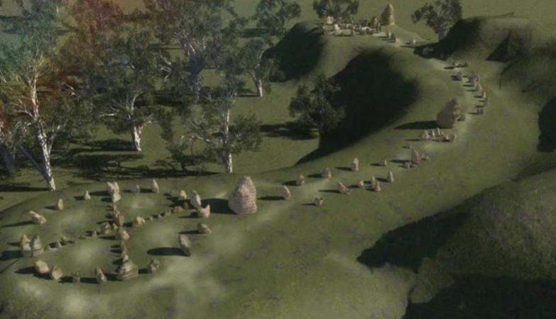 Imagem computorizada que mostra como seria a versão australiana de Stonehenge.