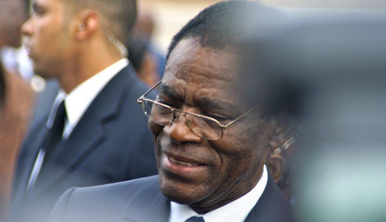 O pesidente da Guiné Equatorial, Teodoro Obiang Nguema