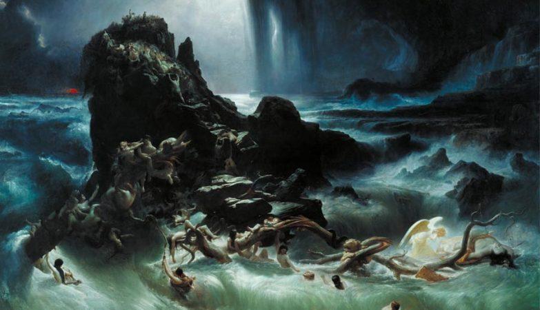 """The Deluge"" [O Dilúvio] de Francis Danby (1793–1861)."