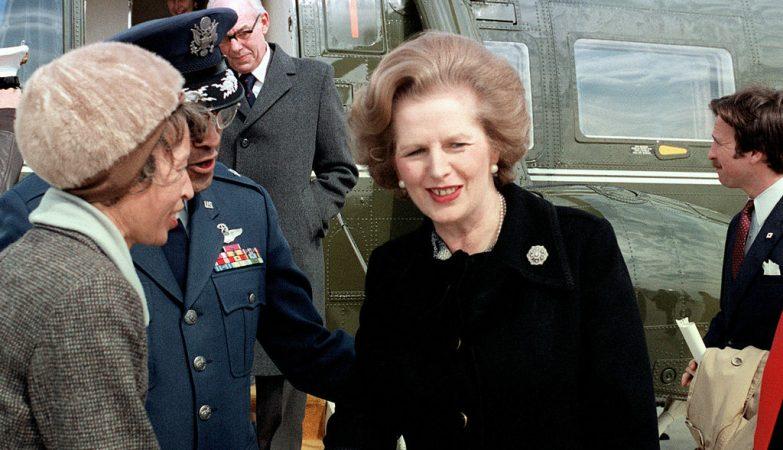 """Margaret Thatcher, antiga primeira-ministra britânica conhecida como a """"Dama de Ferro"""""""