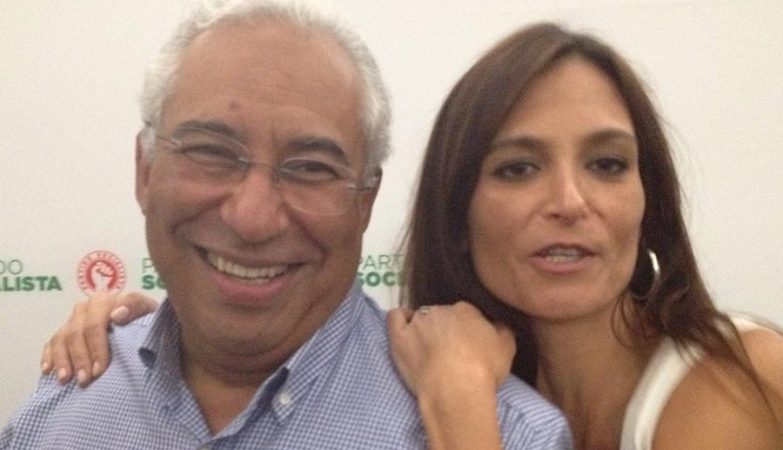 António Costa e Isabel Moreira, deputada do PS.