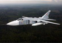 Caça bombardeiro Sukhoi Su-24M da Força Aérea da Rússia