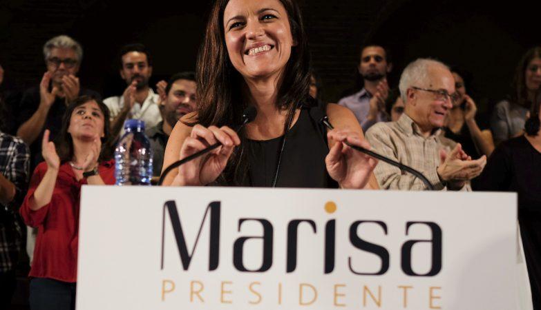Marisa Matias durante o discurso de apresentação da sua candidatura