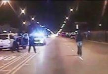 O polícia Jason Van Dyke a atirar contra o jovem Laquan McDonald
