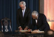 Tomada de posse do XXI Governo Constitucional com António Costa como primeiro-ministro