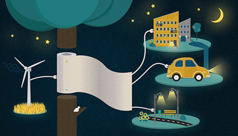 Suecos inventaram papel que armazena electricidade