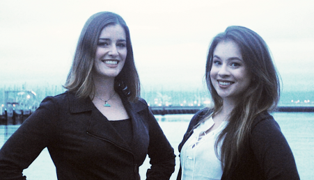 A biólogas Dominique Barnes e Michelle Wolf, fundadoras da New Wave Foods