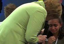 Reem Sahwil, a menina que Angela Merkel fez chorar