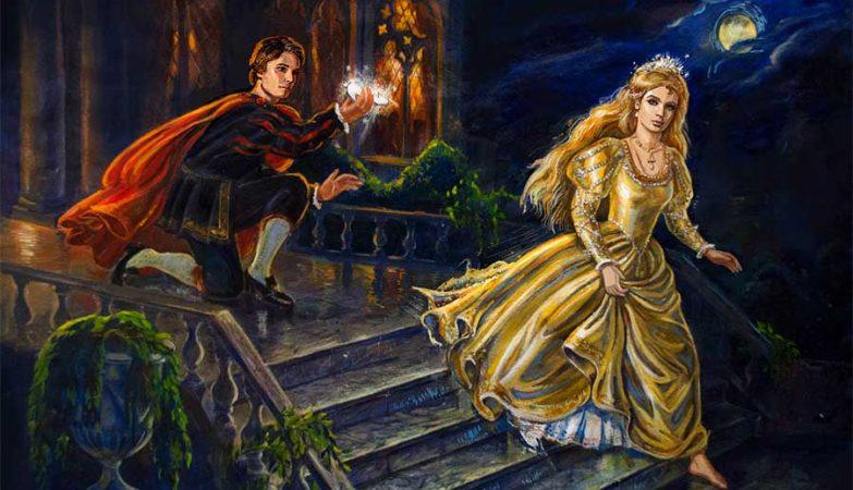 Ilustração da Cinderela