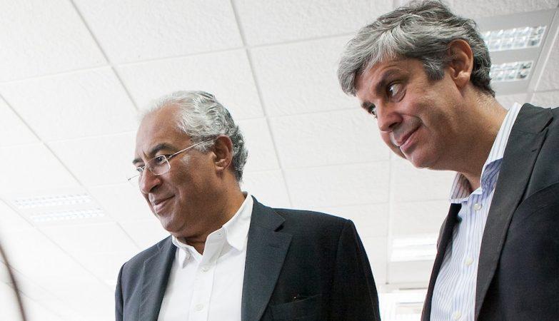 O primeiro-ministro, António Costa, com o ministro das Finanças, Mário Centeno
