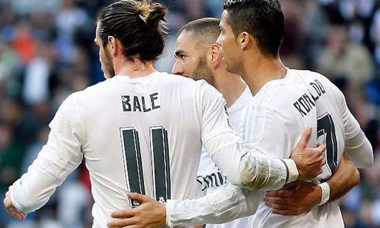 Gareth Bale, Karim Benzema, Cristiano Ronaldo, trio galático do Real Madrid
