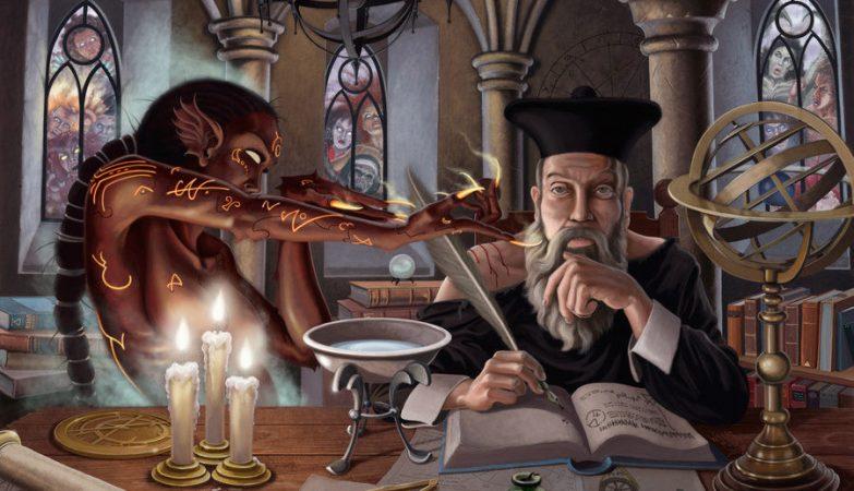 O lendário astrólogo, médico, farmacêutico e alquimista francês Nostradamus