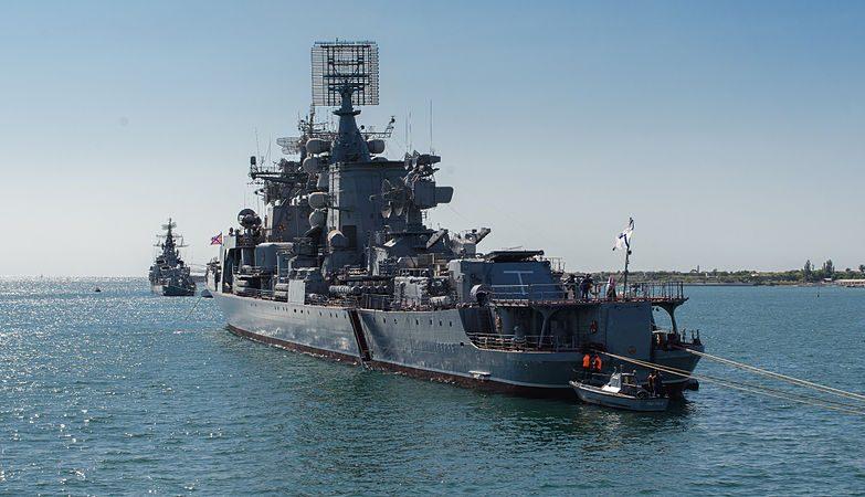 O contratorpedeiro Smetlivy, da Marinha de Guerra da Rússia