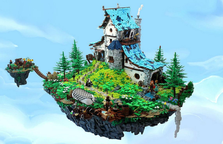 A Ilha Flutuante de Todaith Beag, criação Lego  de César Soares
