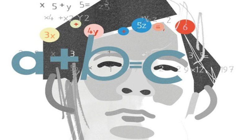 Caricatura do matemático japonês Shinichi Mochizuki por Paddy Mills