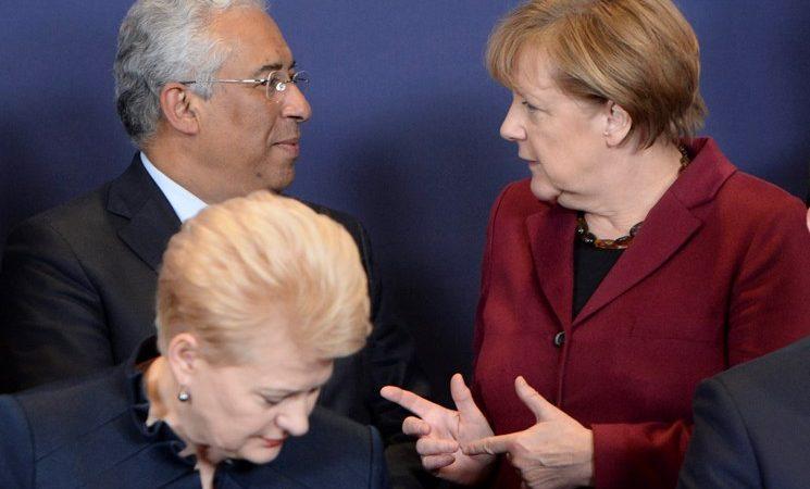 Primeiro-Ministro António Costa com a Chanceler alemã Angela Merkel na Cimeira entre a União Europeia e a Turquia