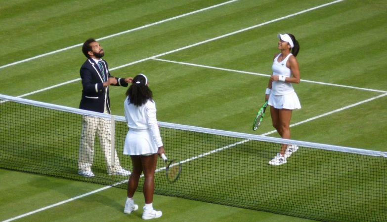 Partida de ténis no Open de Wimbledon 2015