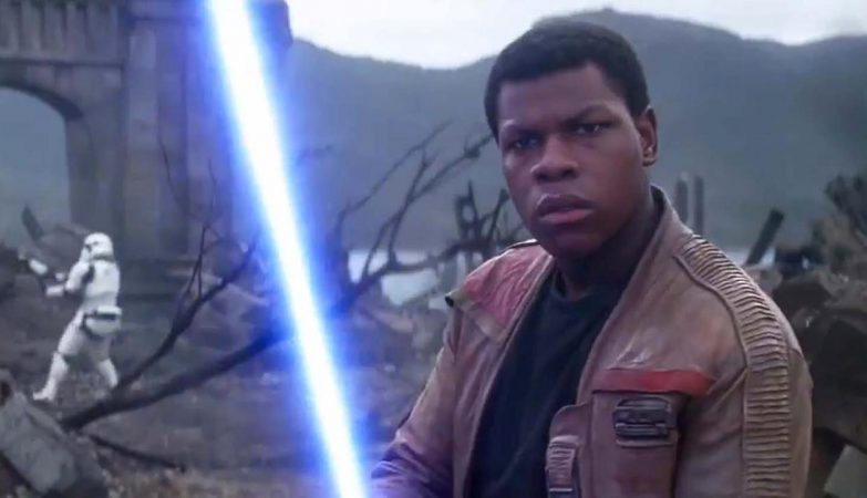 "Finn, um dos protagonistas de ""Star Wars VII: The Force Awakens"""