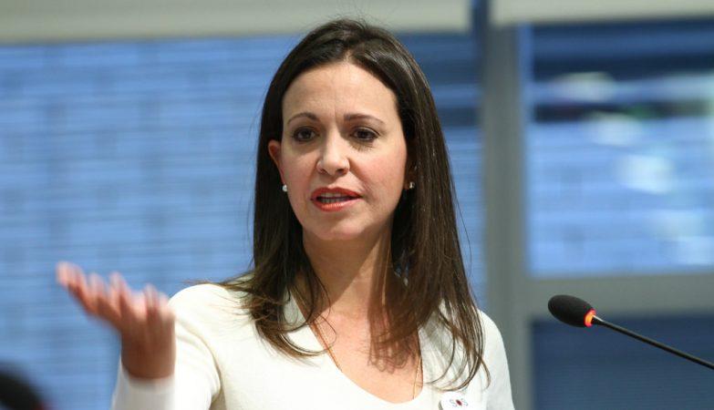 A líder do partido Vente Venezuela, Maria Corina Machado