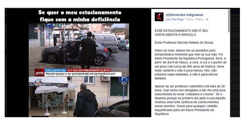 Marcelo estaciona no lugar para deficientes