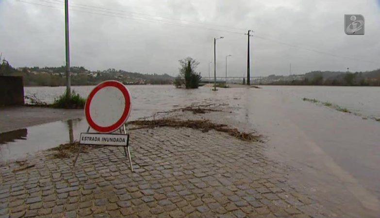 Mau tempo causa inundações em Águeda no início do ano