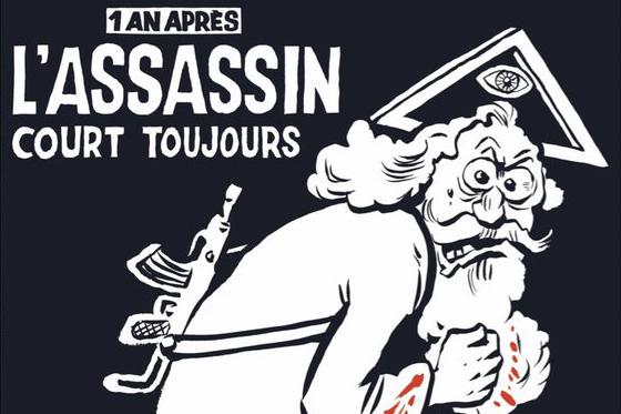 A capa do Charlie Hebdo de 6 de janeiro de 2016, um ano depois do atentado à redação do jornal