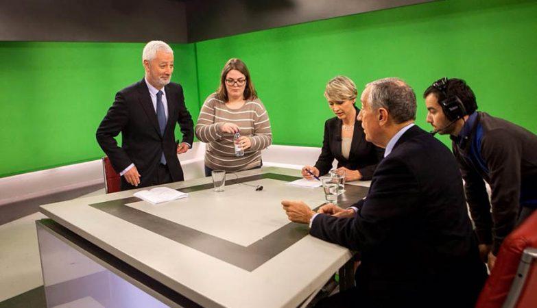Sampaio da Nóvoa e Marcelo Rebelo de Sousa no debate presidencial na SIC.