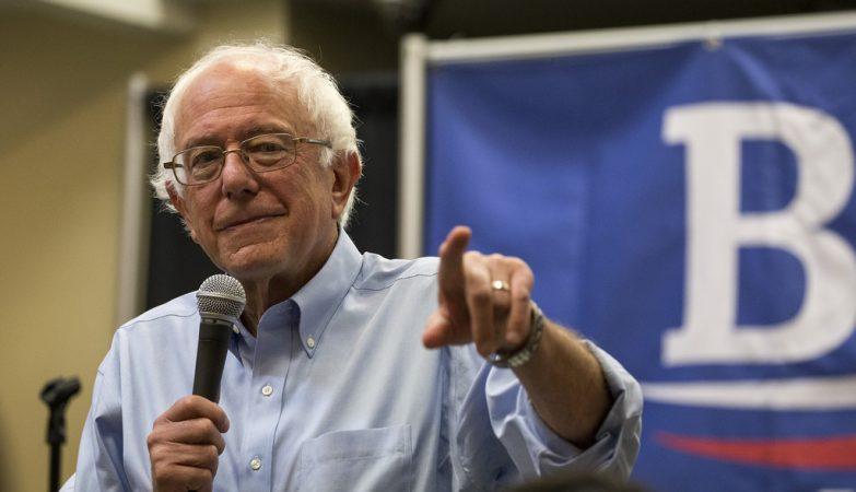 Bernie Sanders, candidato às primárias do partido Democrata para as eleições presidenciais de 2016 nos EUA