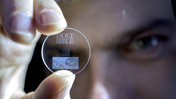 Um só disco do tamanho de uma moeda pode armazenar a história da Humanidade