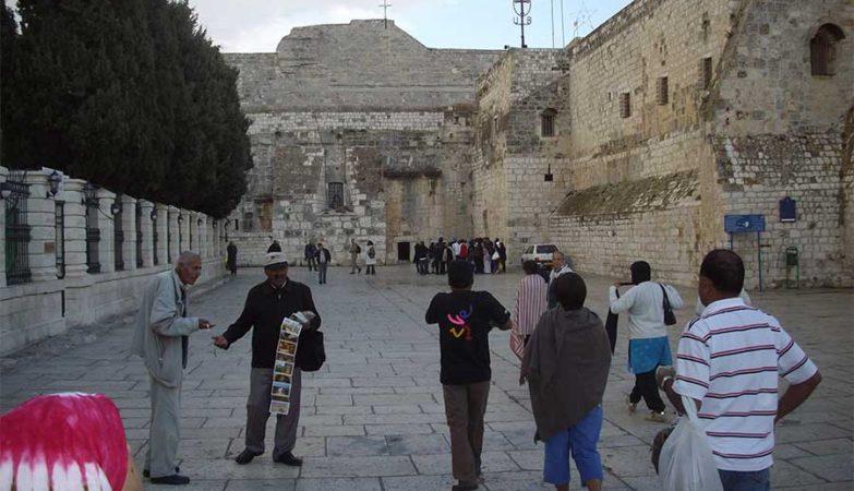 Exterior da Igreja da Natividade, em Jerusalém