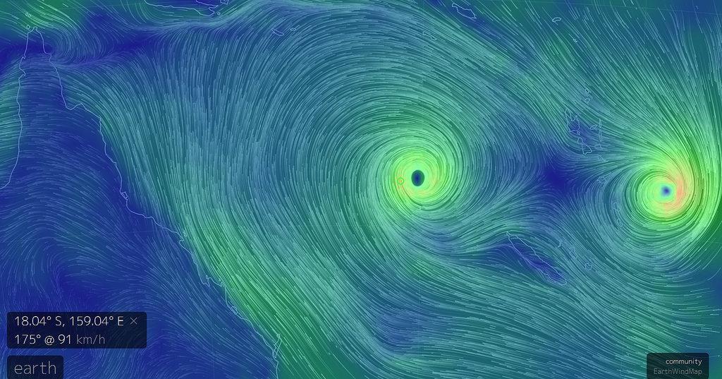 Os ciclones Tatiana e Winston afectam o sul do Pacífico há cerca de uma semana