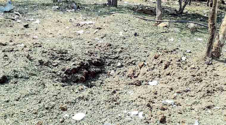 A cratera que se abriu depois da suposta queda de um meteorito na Índia