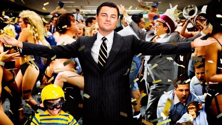 """Leonardo Di Caprio no filme """"O Lobo de Wall Street"""""""""""