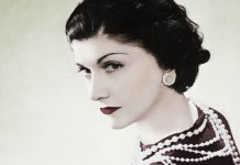 A designer francesa Coco Chanel