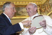 O encontro do Presidente Marcelo com o Papa Francisco