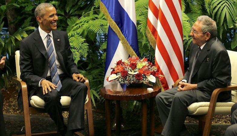 Raúl Castro recebe Barack Obama em Havana, 21 de Março de 2016